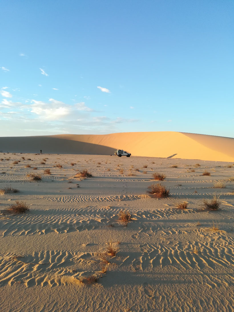 Unsere erste Übernachtung in Mauretanien