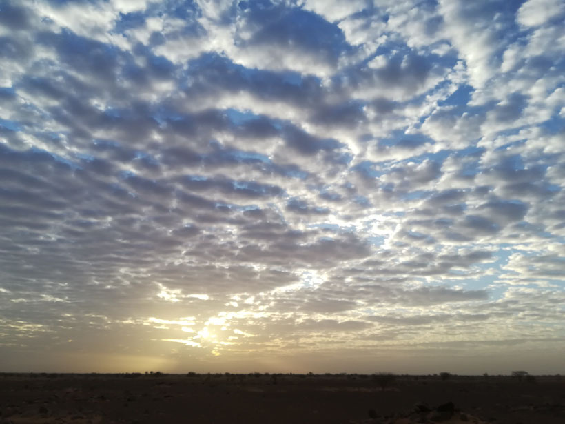Der nächste Morgen - herrlicher Sonnenaufgang und noch schön kühl