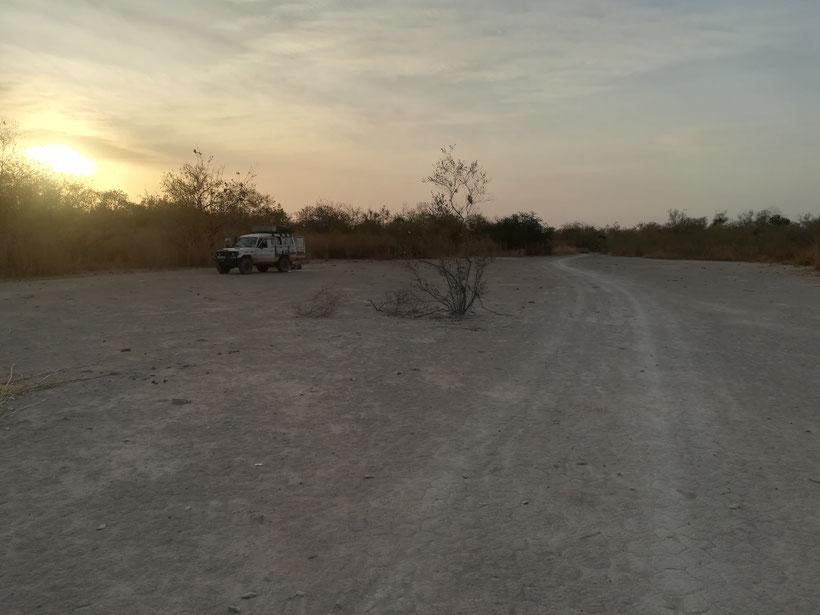 Unser Schlafplatz kurz vor der Grenze