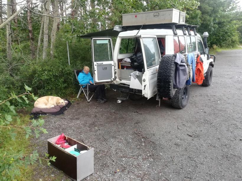Unser zweites Camp in Norwegen südlich von Drammen