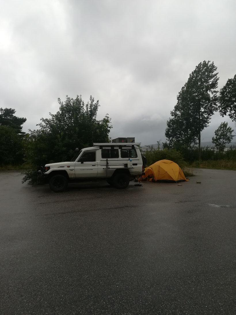 Camp östlich von Kristiansand