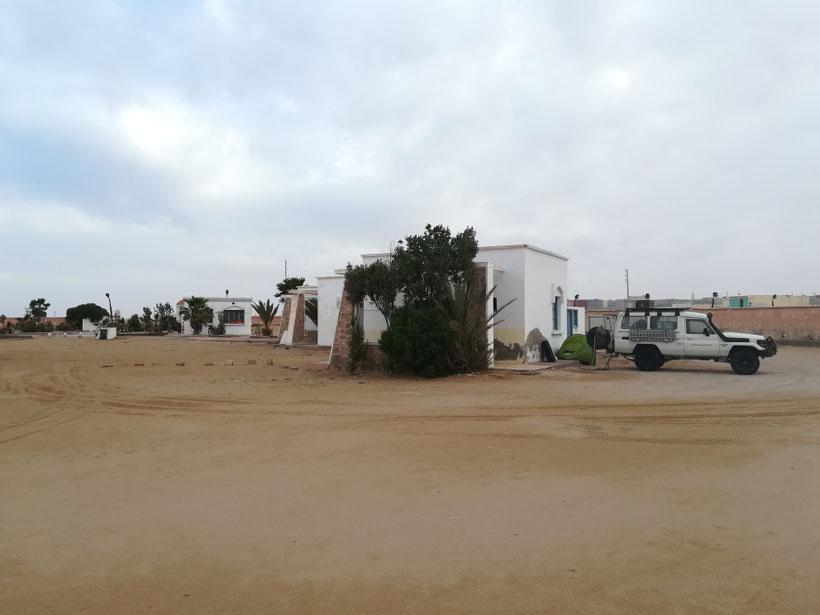 Der Campingplatz in Boujdour - hier war nicht wirklich viel los...