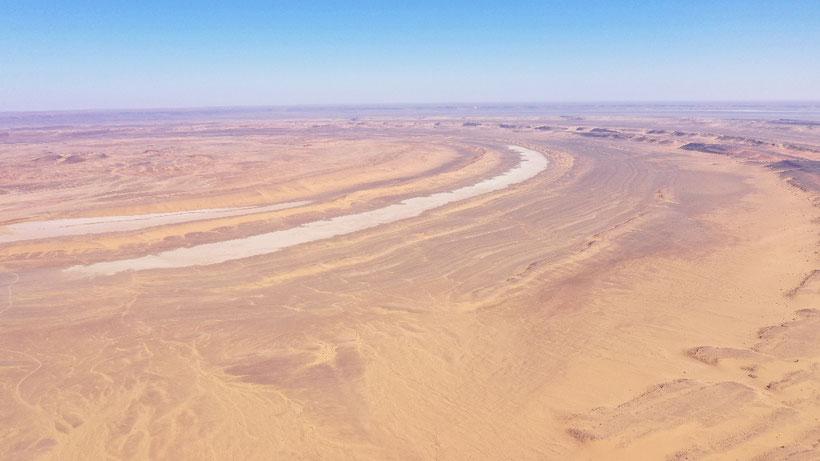 Die Richat Struktur aus 500m Höhe