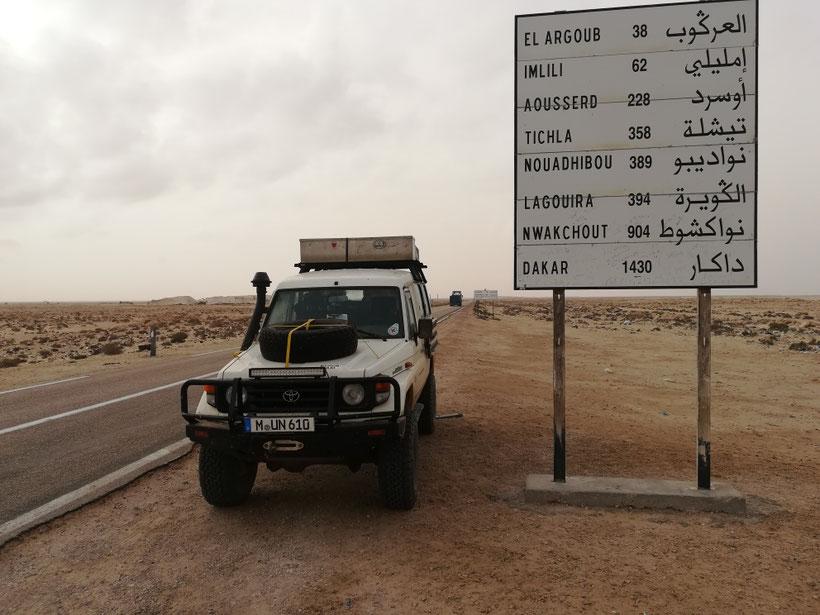 Immer noch ein schönes Stück bis Dakar