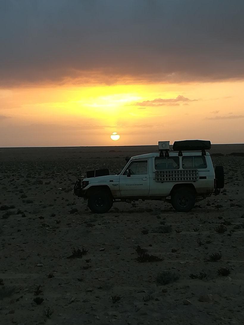 Sonnenaufgang in der Westsahara
