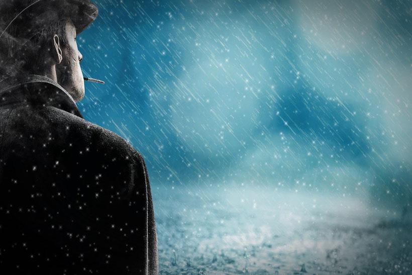 Regentagen, ein Sinnbild für eine schwere Zeit im Leben