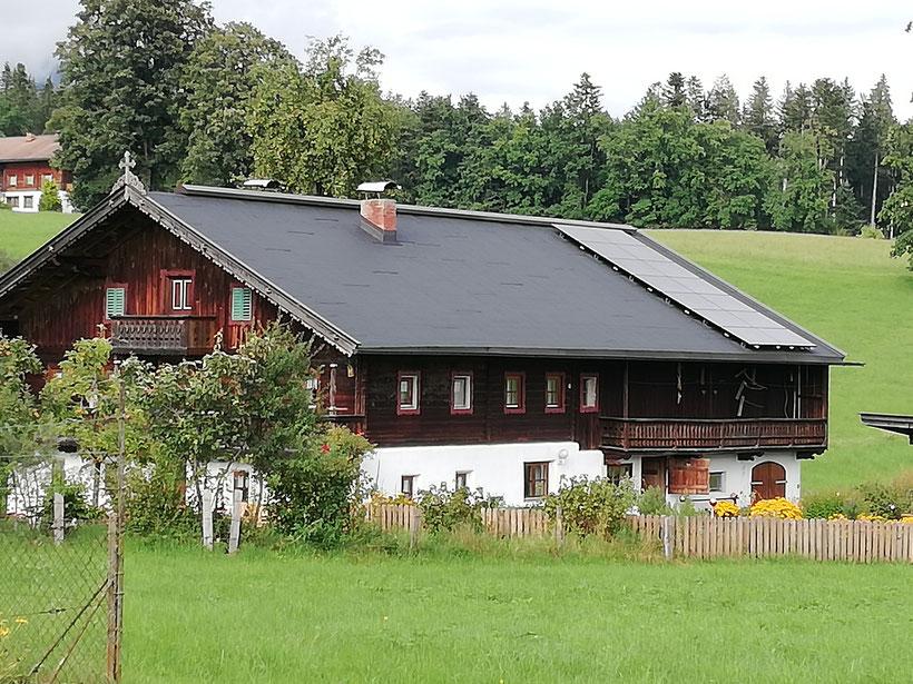 PV Anlage für Wohnhäuser im Alpinen Bereich