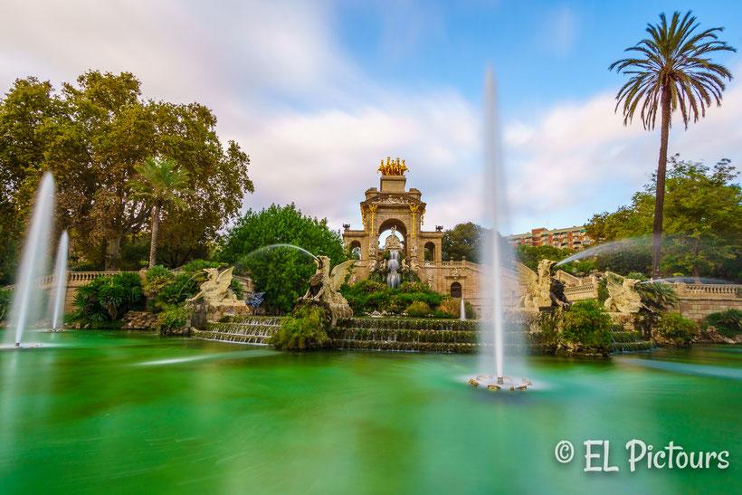 Wasserspiel im Parc de la Ciutadella, Barcelona, Spanien
