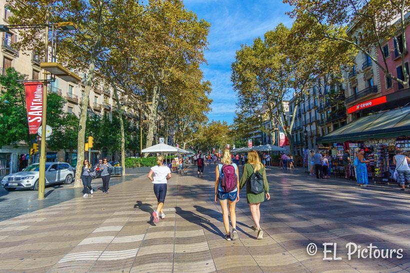Rambla, Barcelona, Spanien