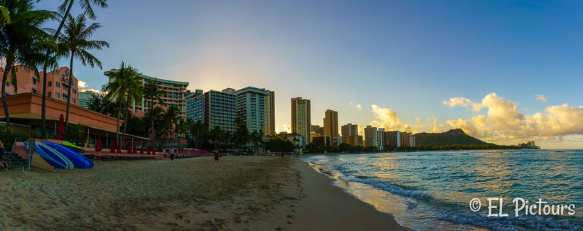 Sonnenaufgang Waikiki Beach, Oahu, Hawaii