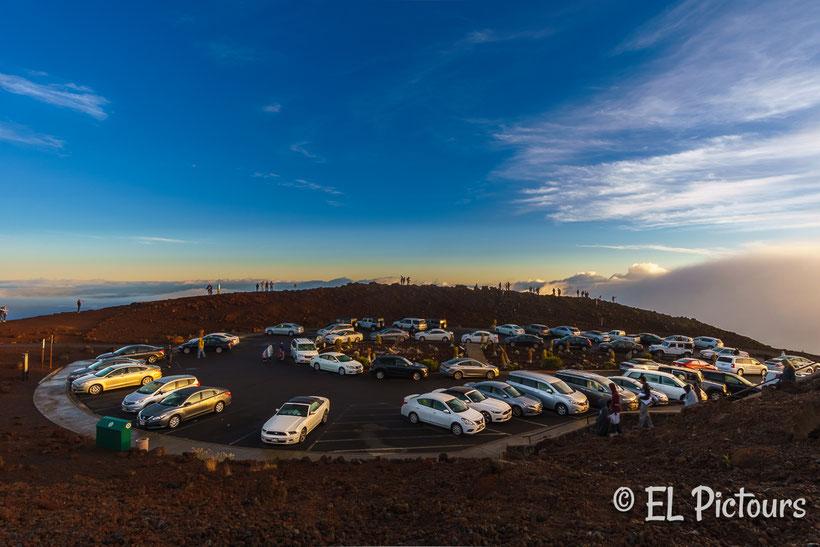 Haleakala Parkplatz, Maui, Hawaii