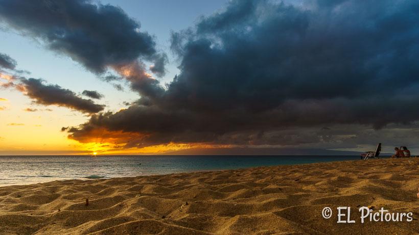 Sonnenuntergang Kaanpali Beach, Maui, Hawaii