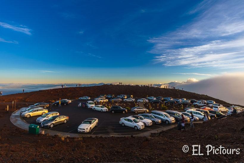 Parkplatz auf dem Haleakala, Haleakala Nationalpark, Maui, Hawaii