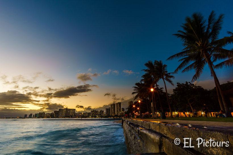 Waikiki skyline, Oahu, Hawaii