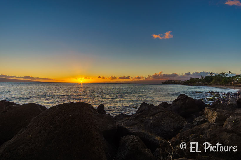 Sonnenuntergang Lahaina, Front Street, Maui, Hawaii