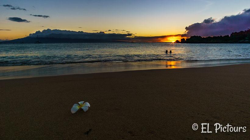 Kaanapali Beach Sonnenuntergang, Maui, Hawaii