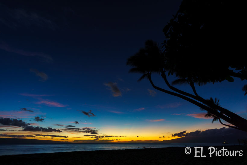 Sonnenuntergang Kaanapali Beach, Maui, Hawaii