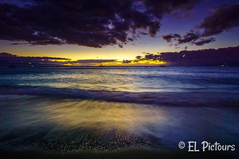 Kananapali Beach Sonnenuntergang, Maui, Hawaii