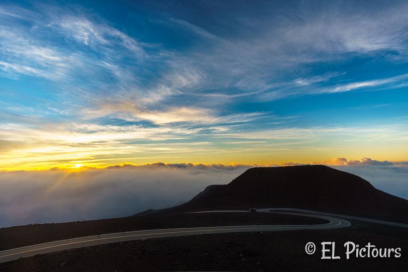 Sonnenaufgang Haleakala Nationalpark, Maui, Hawaii