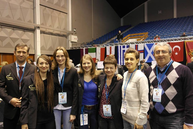 Frauennationalmannschaft bei der Mannschafteuropameisterschaft 2015 in Reykjavik