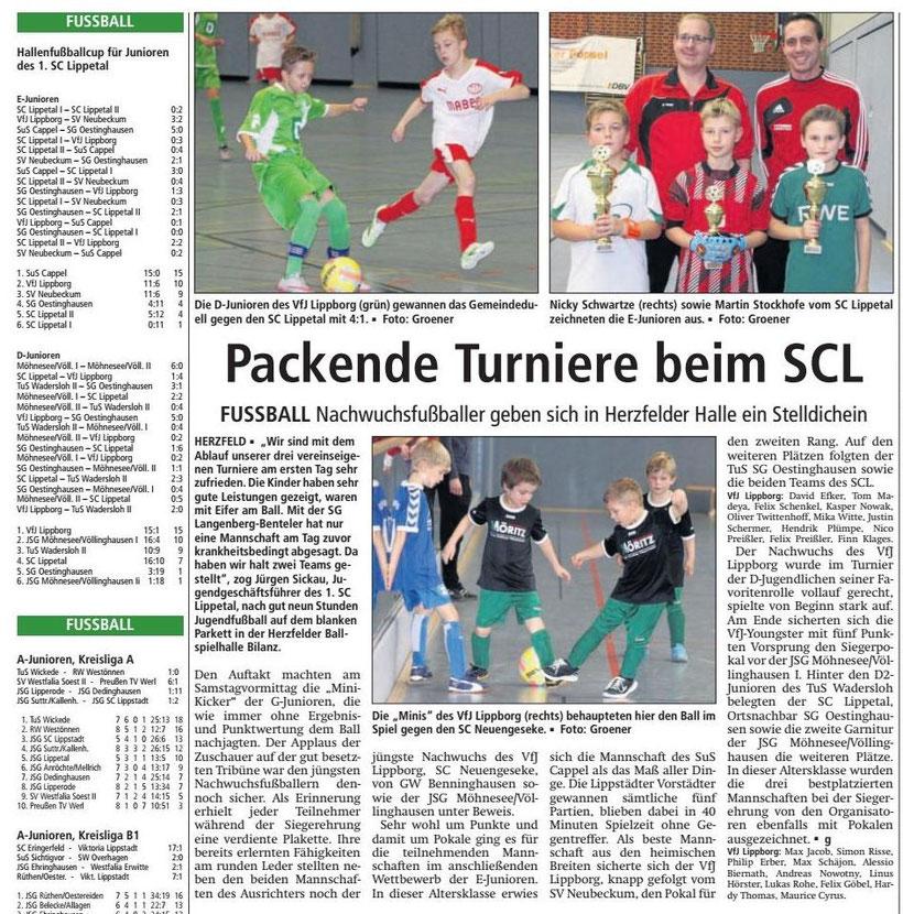 Bericht Soester Anzeiger vom 14.12.2015