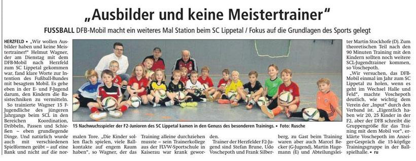 Bericht Soester Anzeiger vom 26.01.2017