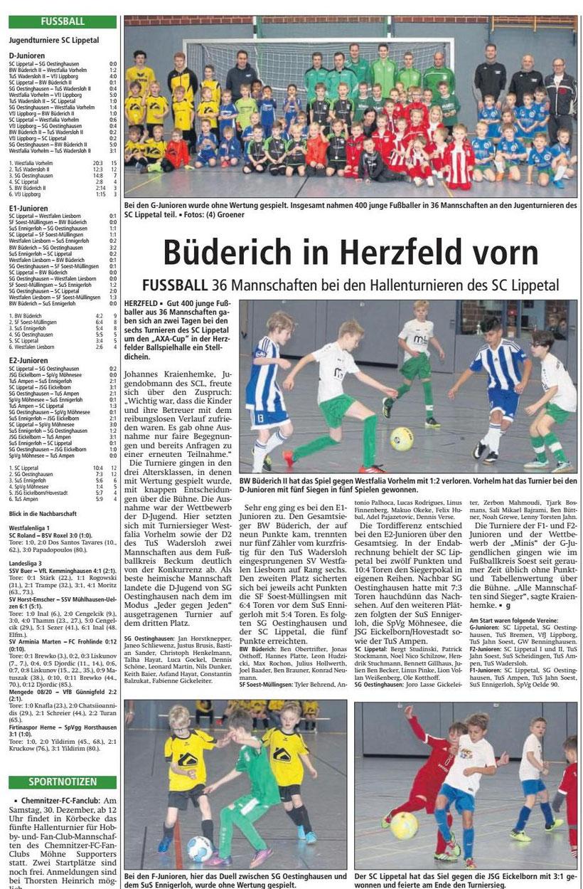 Bericht Soester Anzeiger vom 19.12.2017