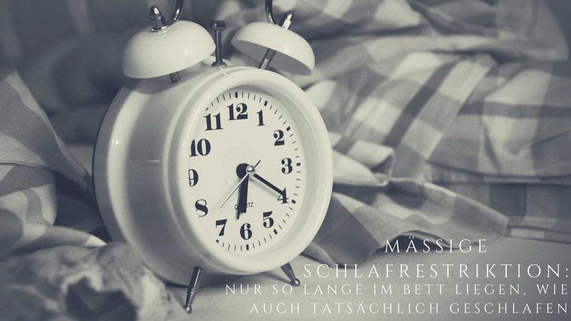 Schlafhygiene Regel Uhr Schlafrestriktion