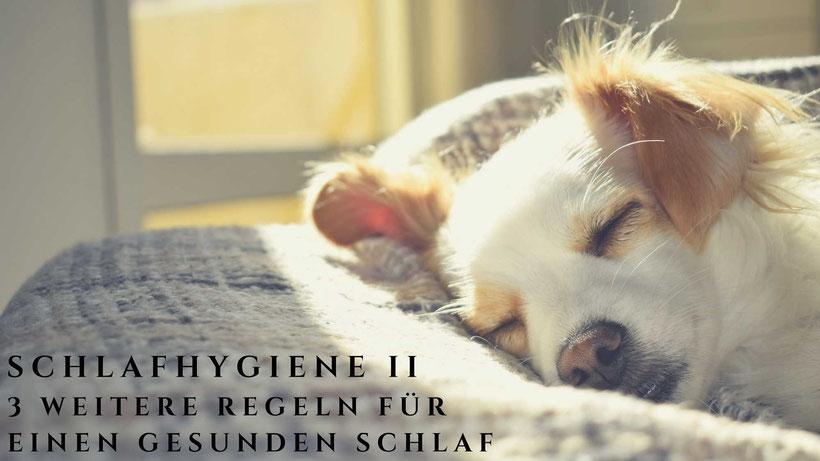 Schlafhygiene Teil 2 Titelbild von Blog