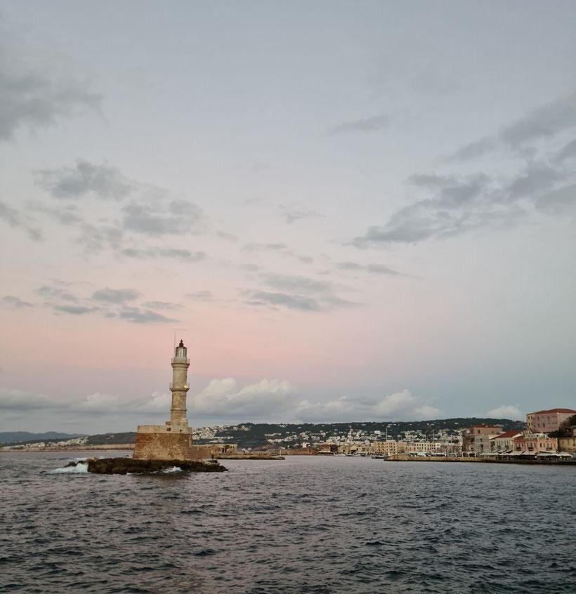 Leuchtturm am venezianischen Hafen