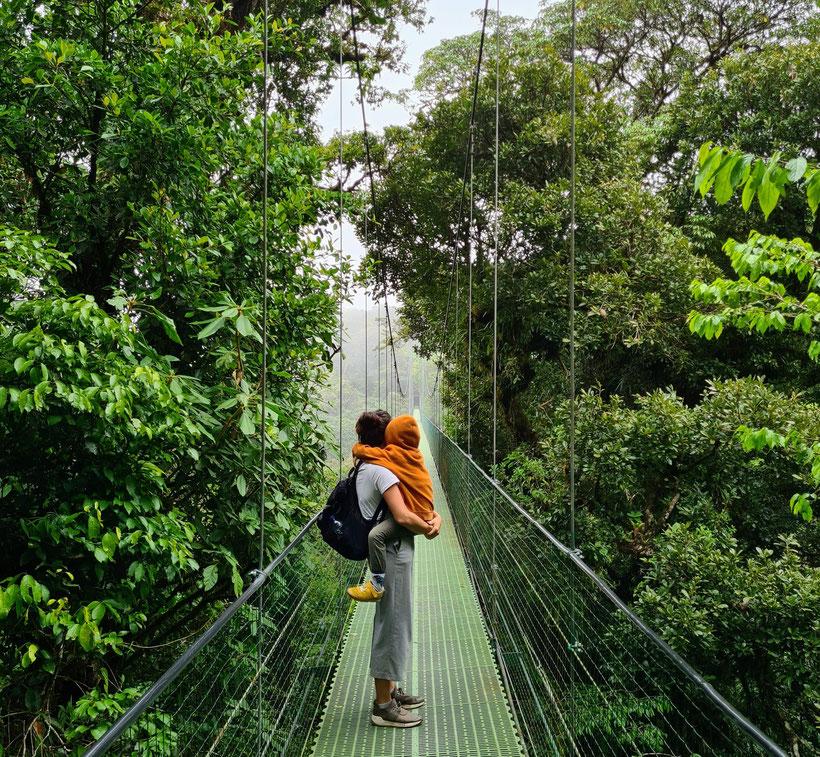 Sky Adventures Monteverde Park Kleinkind Kind Costa Rica Cloudforest