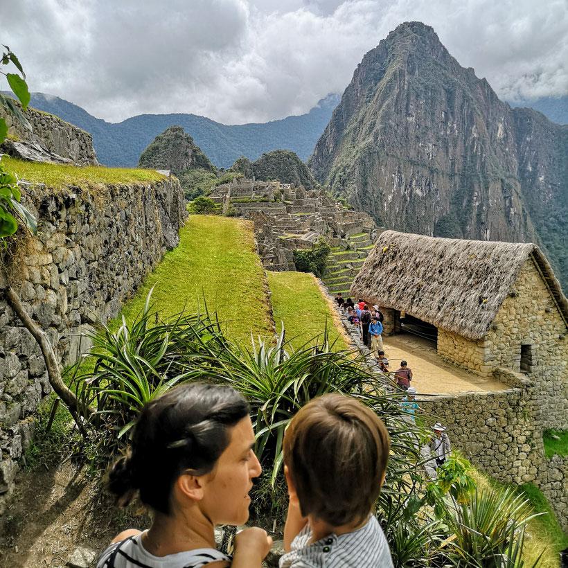 Eingang Machu Picchu Kleinkind Kind
