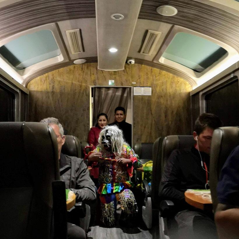 Zug Perurail Macchu Picchu