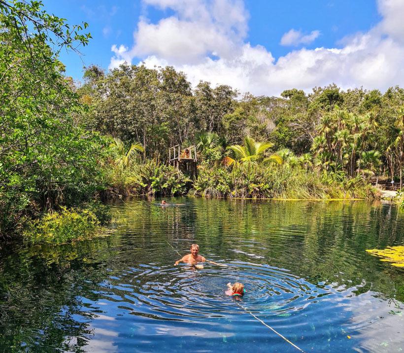 Cenote Cristal Escondido Mexico Tulum Baby Kind
