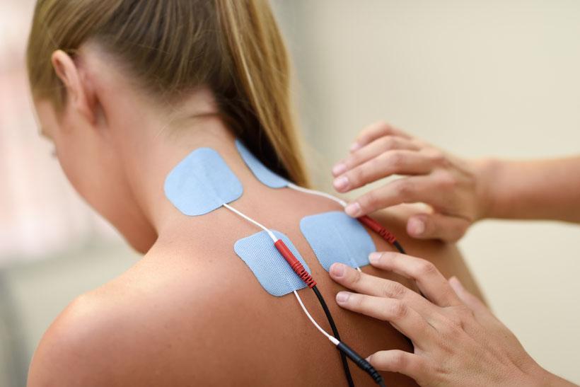 Elektrotherapie Basel- Physiotherapie Basel Santewell- moderne Geräte zur Schmerzlinderung, Stosswellentherapie- Hilfe bei Gelenkschmerzen, Verspannungen, Bandscheibenprobleme