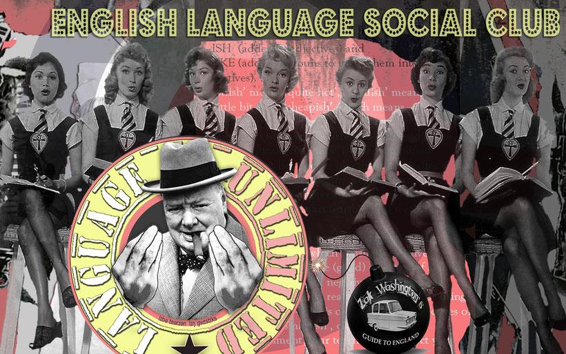 Poster for Libertarian Linguistics English Language Social Club event