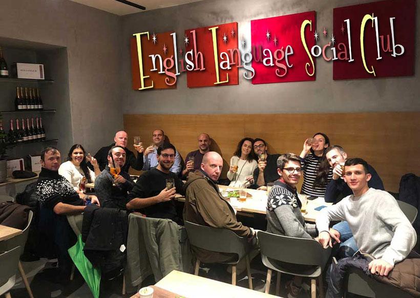Photo of Libertarian Linguistic's English Language Social Club members meeting Varese 2019