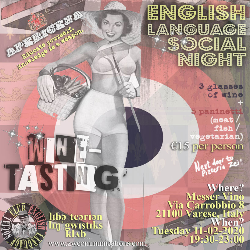 English Language Social Club logo and graphic - Learn English with ZakWashington - Libertarian Linguistics Club