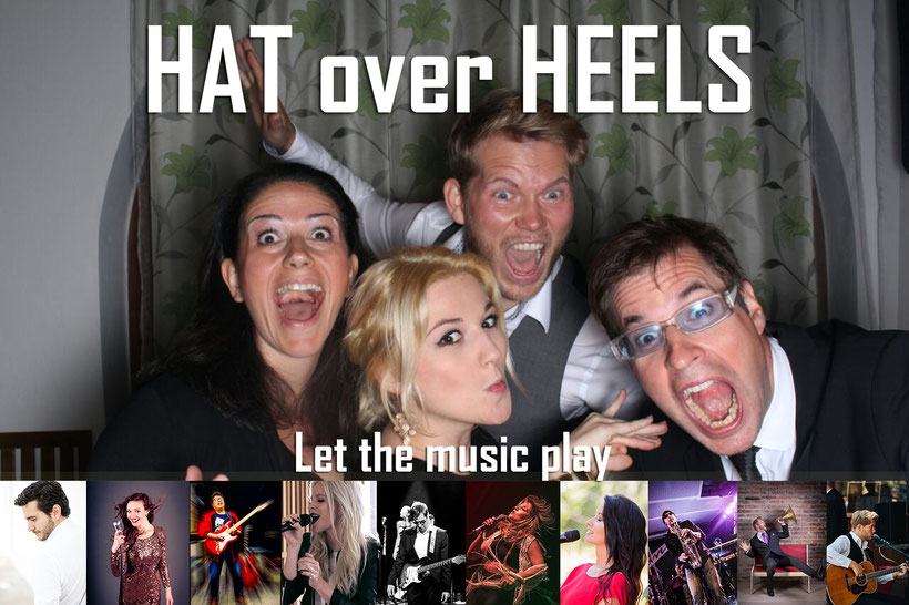 hat over heels, hochzeit, band, party, cover