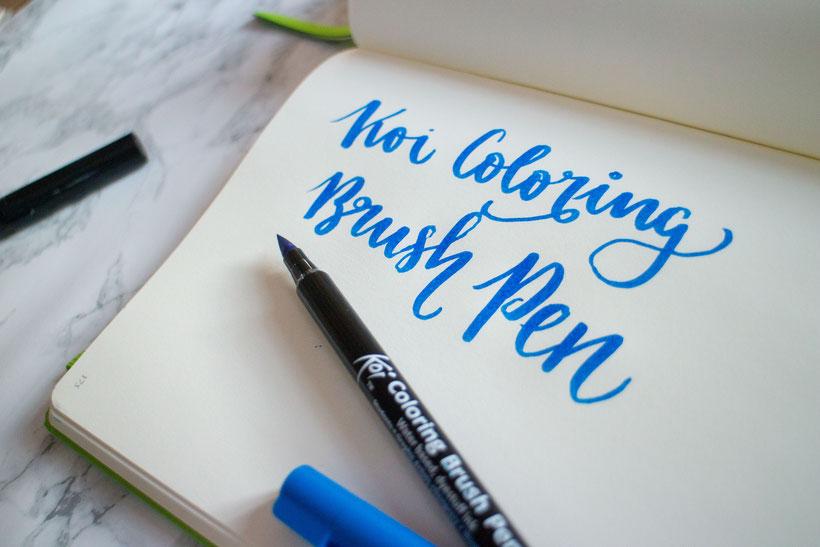 Der Koi Coloring Brush Pen hat wunderschön leuchtende Farben