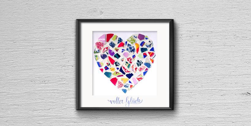 Mosaik - Polterabend Herz - DIY Geschenkidee fürs Brautpaar - Cari ...