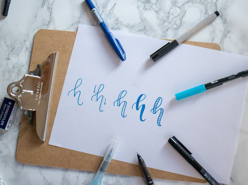 Faux Calligraphy Technik