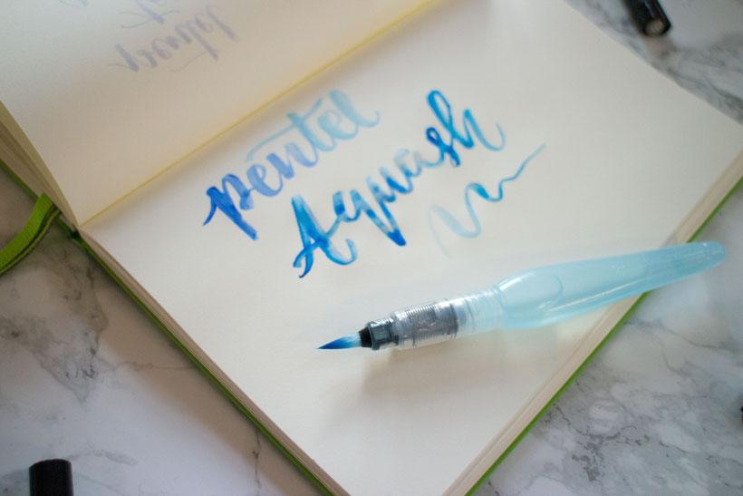 Pentel Aquash Pen, ein Haarfaserpinsel mit integriertem Wassertank