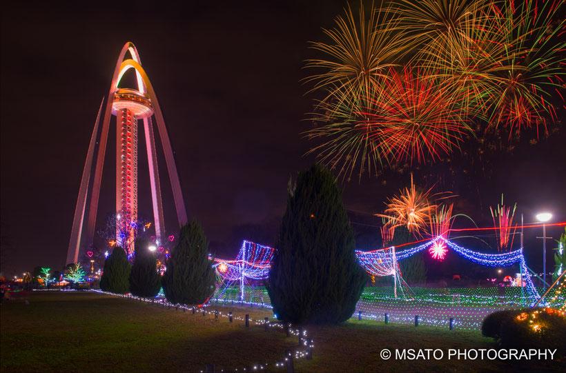 """""""Japan """"Gifu """"Natal #decoração """"tower #hanabi #fireworks #fogos_de_artificio"""