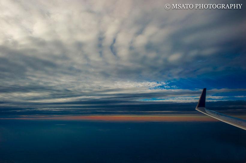 avião, céu azul, por do sol, viagem, mar do Japão, guerra nas estrelas