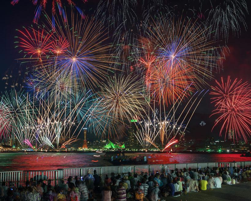 #Hyogo_prefecture #Kobe #hanabi #fireworks #port # japan #Kobe_night #fogos_de_artificio