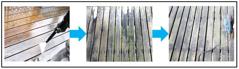 札幌ウッドデッキ塗装は若濱工業へ♪お安く、安心、丁寧な塗装♪
