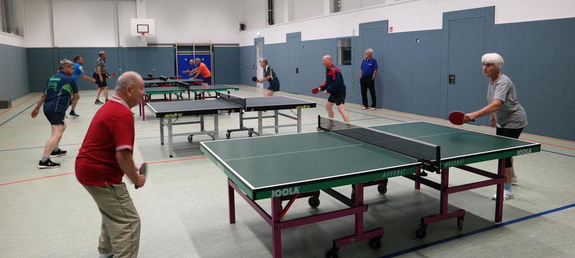 Training in neuer Turnhalle (Quelle: Reichstädter Sportverein - Abteilung Tischtennis)