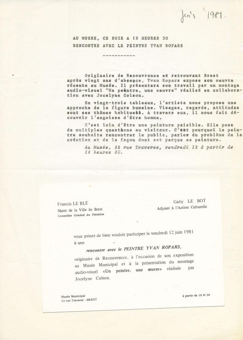 Brest juin 1981