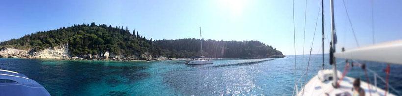 Küstenabschnitt Paxos Griechenland